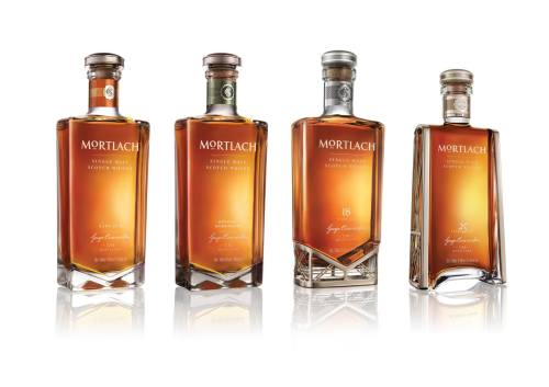 The new range of Moneylach bottlings. They come in handy slimline 50cl 'arse-insertion' format.