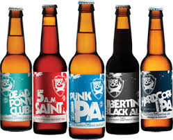 Five bottles, three beers. It's like looking at the Royal Family on a balcony.